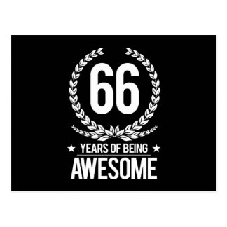 66.o Cumpleaños (66 años de ser impresionantes) Postal