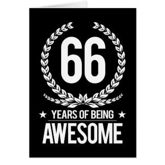 66.o Cumpleaños (66 años de ser impresionantes) Tarjeta De Felicitación