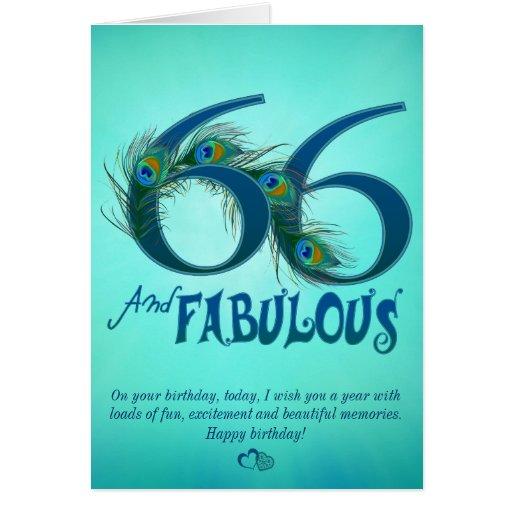 66.o Tarjetas de la plantilla del cumpleaños
