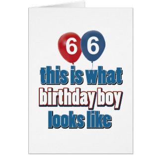 66.os diseños años del cumpleaños tarjeta de felicitación