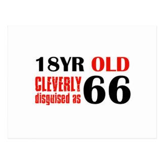 66.os diseños de los años postal