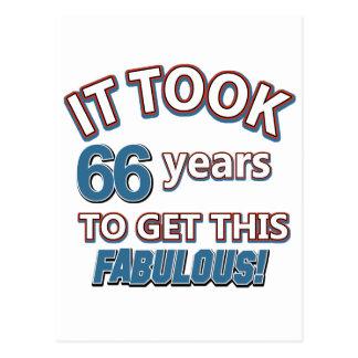 66.os diseños del cumpleaños del año postal
