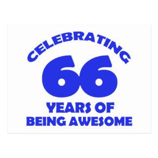 66.os diseños del cumpleaños postal
