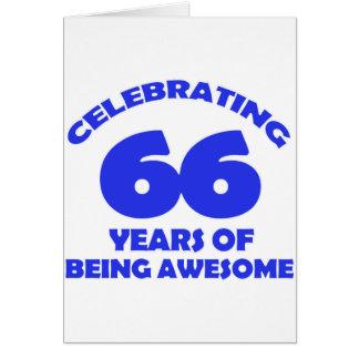 66.os diseños del cumpleaños tarjeta de felicitación