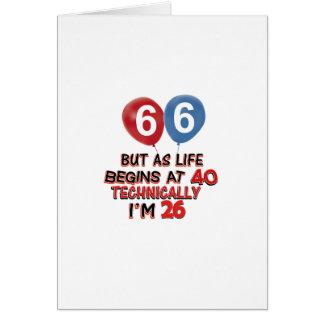 66.os diseños divertidos del cumpleaños tarjetas