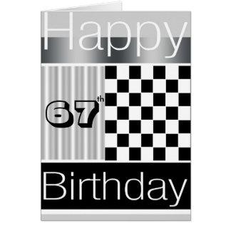 67.o Cumpleaños Tarjeta De Felicitación