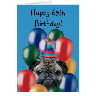 69.a tarjeta de felicitación feliz del perro del b