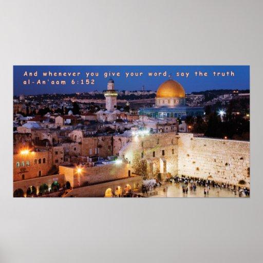 6:152 del al-An'aam Poster