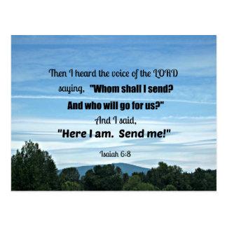 6:8 de Isaías entonces oí la voz del señor Postal
