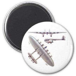 6 aviones de viajero del motor imán redondo 5 cm