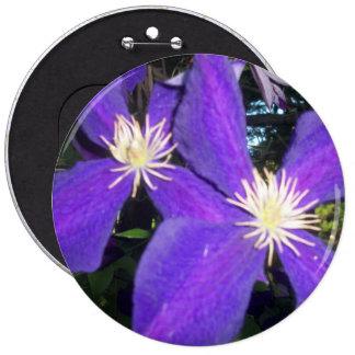 "6"" colosal botón redondo con las violetas"