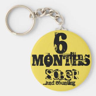 6 meses de sobriedad llavero redondo tipo chapa