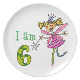 6ta fiesta de cumpleaños plato de cena