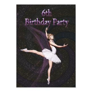 6ta invitación de la fiesta de cumpleaños de la