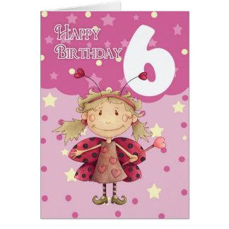 6ta tarjeta de cumpleaños con la hada linda de la