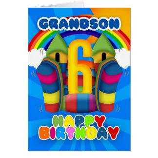 6ta tarjeta de cumpleaños del nieto con el castill