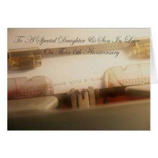 6ta tarjeta del aniversario de la hija y del yerno