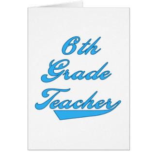 6to Camisetas y regalos azules del profesor del gr Tarjeta De Felicitación