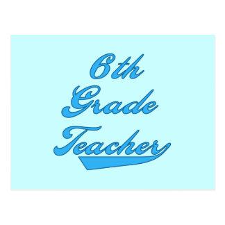 6to Camisetas y regalos azules del profesor del gr Postal