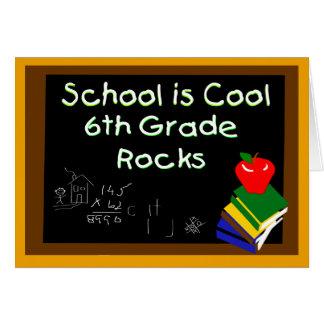 6to La escuela primaria es tablero de tiza fresco Tarjeta De Felicitación
