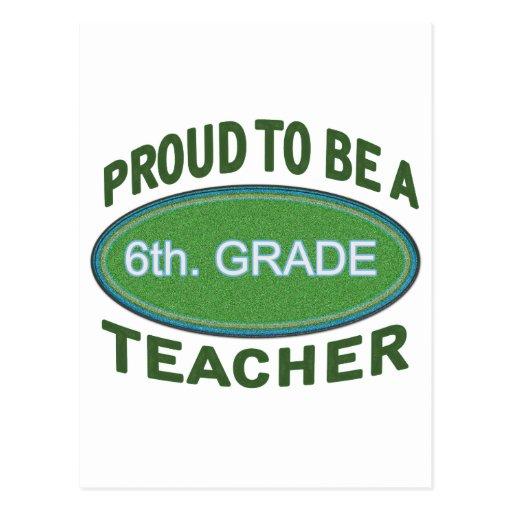 6to orgulloso. Profesor del grado Tarjetas Postales