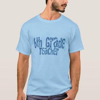 6to profesor apenado azul del grado del texto camiseta