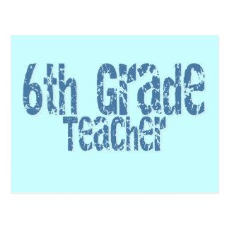 6to profesor apenado azul del grado del texto postal