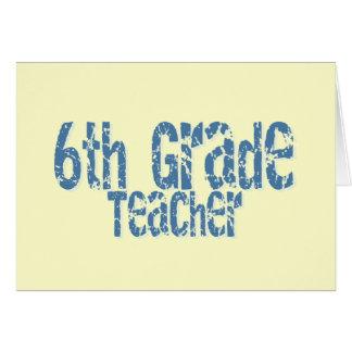 6to profesor apenado azul del grado del texto tarjeta de felicitación