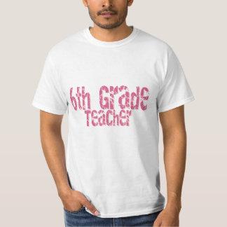 6to profesor apenado del grado del texto rosado camisetas