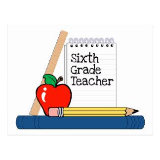 6to Profesor del grado (cuaderno) Postal