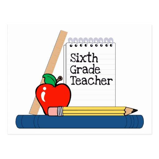 6to Profesor del grado (cuaderno) Tarjeta Postal