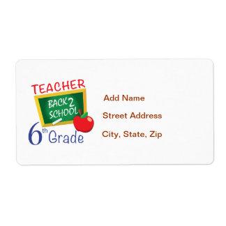 6to Profesor del grado Etiquetas De Envío