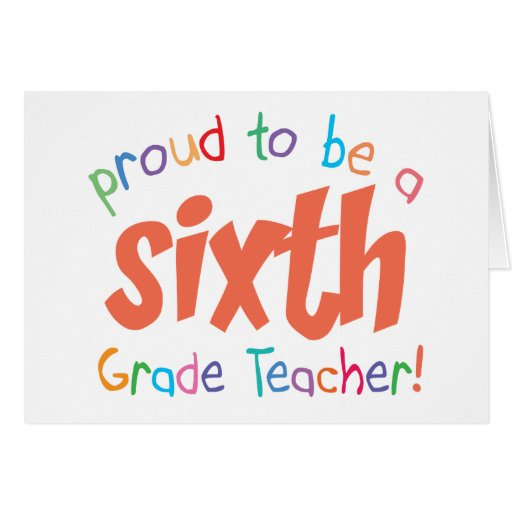 6to profesor orgulloso del grado tarjeton