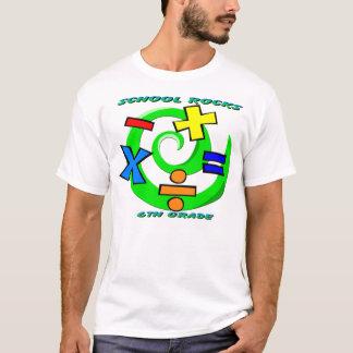 6to Rocas del grado - símbolos de la matemáticas Camiseta