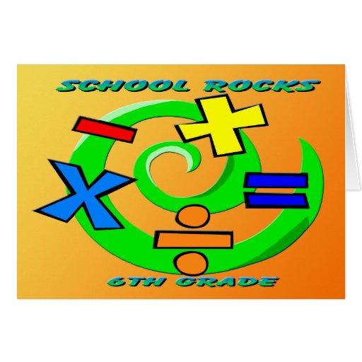 6to Rocas del grado - símbolos de la matemáticas Tarjeton