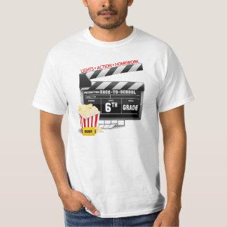 6to Tablilla de la película del grado Camisas