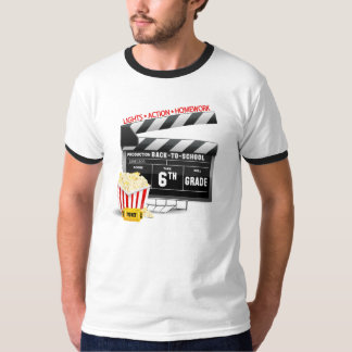 6to Tablilla de la película del grado Camiseta