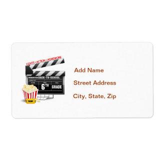 6to Tablilla de la película del grado Etiqueta De Envío