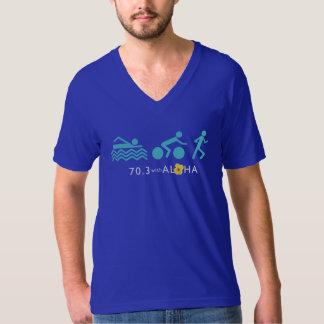 70,3 Con hawaiana los hombres multan el cuello en Camisetas