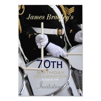 70.a celebración del cumpleaños de la banda invitación 8,9 x 12,7 cm