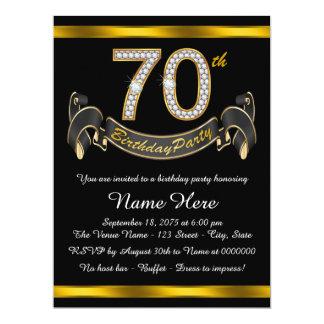 70.a fiesta de cumpleaños del oro invitación 16,5 x 22,2 cm