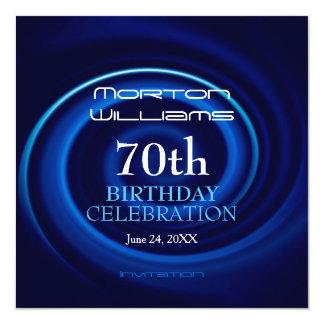 70.a invitación de la celebración del cumpleaños