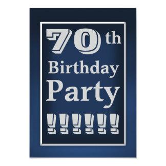 70.a invitación de la fiesta de cumpleaños de los