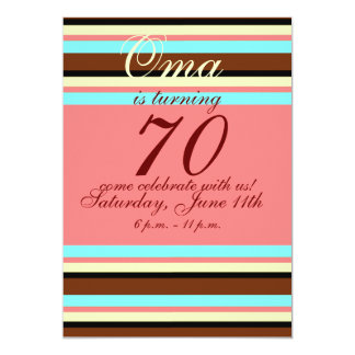 70.a invitación del cumpleaños