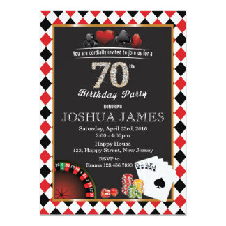 70.a invitación del cumpleaños del casino