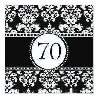 70.a invitación del cumpleaños del damasco blanco