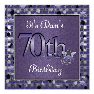 70.a invitación feliz de la fiesta de cumpleaños