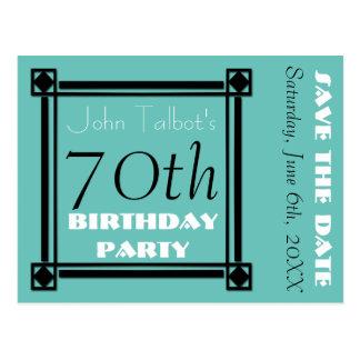 70.a reserva de la fiesta de cumpleaños del postal