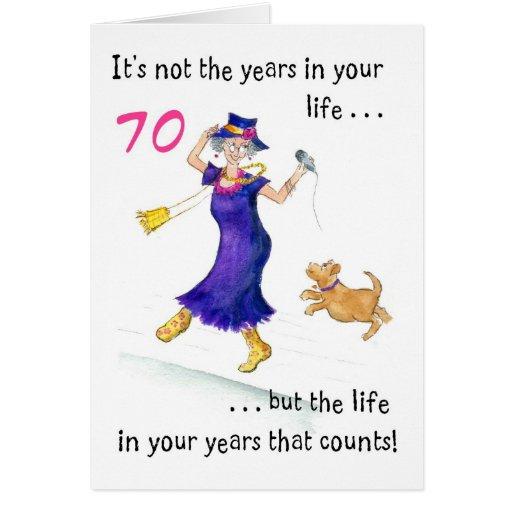 Tarjetas 70 años - Imagui