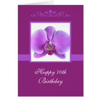 70.a tarjeta de cumpleaños de la orquídea